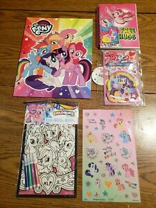 My little pony folder notebook stickers color ups pens back to school supplies