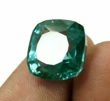 EGL Certified Cushion Cut Natural Muzo Colombian 10.05 Ct Green Emerald Gemstone