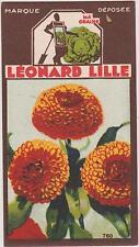 BON POINT PUBLICITAIRE LEONARD LILLE/ LYON GRAINES POTAGERES/FLEUR SOUCI