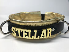 Custom Leather collar metallic gold other colors- Daddy's__ Any Word