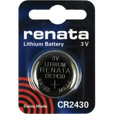 RENATA CR2430 Lithium Coin Cell Battery - 1 Piece - BNew - Authentic