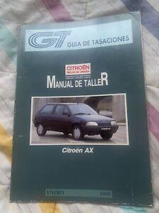 MANUAL DE TALLER Y REPARACION CITROEN AX,GAS. Y DIESEL