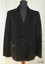 Gerard DAREL veste noire 44 bords faux cuir plutôt 42