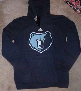 NEW ADIDAS NBA Memphis Grizzlies Hoodie Hooded Sweatshirt M 10 12 Youth Boys NWT
