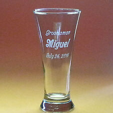 Personalized Pilsner Beer Glass 19.25 oz Lrg Clear Engraved Wedding Birthday Bar
