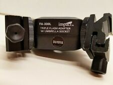 Impact FA-330L Adjustable Locking Triple Flash Adapter with Umbrella Socket