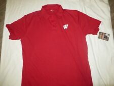Ncaa Wisconsin Badgers Polo Shirt Large/L Nwt!