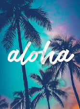 Hawaiian Poster - Aloha Typography Large Wall Art Poster Print LF3868