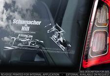 Michael Schumacher vs Damon Hill - Car Window Sticker - Formula 1 F1 Decal Sign