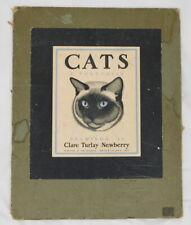 Clare Turlay Newberry- Cats A Portfolio w/6 Prints - 1937-1943