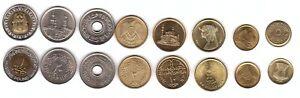 Egypt - set 8 coins 1 2 5 10 20 25 50 Piastres 1 Pound 1980 - 2010 aUNC / UNC