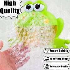 Baby Badespaß Blubbefrosch Badewannen-Spielzeug Frosch Form Musik Bubble Machine