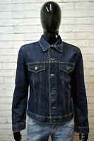 Giubbotto Jeans Blu Uomo GAS Taglia Size XL Giacca Denim Jacket Man Cappotto