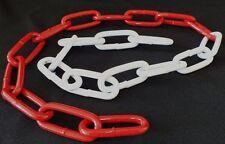 Metall Absperrkette rot-weiß 6 mm, feuerverzinkt u. beschichet rot/weiß DIN 5685