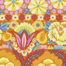 Kaffe Fassett PWKF001 Artisan Embroidered Flower Border Yellow Fabric By Yard