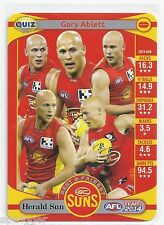 2014 Teamcoach Herald Sun Quiz (08) Gary ABLETT (In how many of the Suns...)