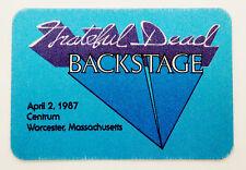 Grateful Dead Backstage Pass Shakedown Street Sky Light Worcester MA 4/2/1987