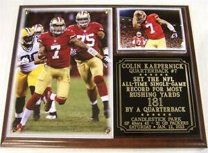 Colin Kaepernik San Francisco 49ers Photo Card Plaque