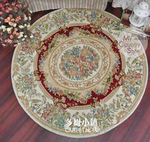 Charming  Floor Mat Rug Carpet  Round Country Floral Style