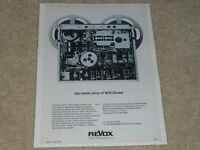 Revox A77 Open Reel Ad, Series I, 1969, Inside Look, Article, 1 page, Very Rare!