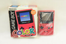 GAME BOY COLOR Red Console Boxed Item Ref/2331 Nintendo CGB-001 Tested JAPAN gb