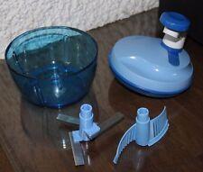 Tupperware Salatschleuder Salatschüssel blau mit Messereinsatz