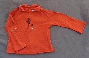 T-Shirt orange manches longues Catimini - 3 ans