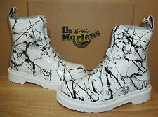 Dr Martens Pascal White Patent Marble Leather Women's Ankle Boots New US 5 /UK 3