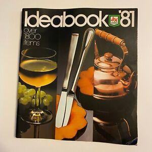 Vintage 1981 S&H Green Stamp Ideabook Of Merchandise Catalog Brochure