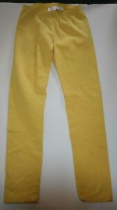 Used Hanna Andersson Girls 150 10 yr Leggings Full Length Yellow Stretch