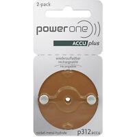 2x Varta Power One ACCU plus Braun p312 Akku für Hörgeräte NiMH 1x 2er Blister