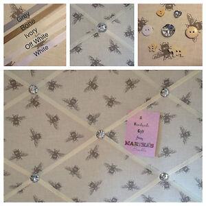 Custom Handmade Fryetts Bees Fabric Pin/Memo/Notice Board Cork SMl LG XL