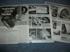 2002 How-To Tech Info Article on Building Cycle Fenders for a Highboy