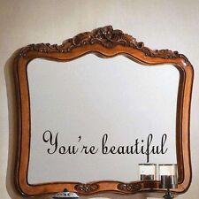 Toilet Mural Wall Sticker Bathroom Decor English Proverbs Mirror Decal