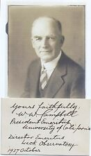 William Wallace Campbell Prominent Astronomer & Scientist Autograph Signed Card