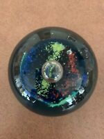 Vintage Glass Eye Multi-Colored Paperweight