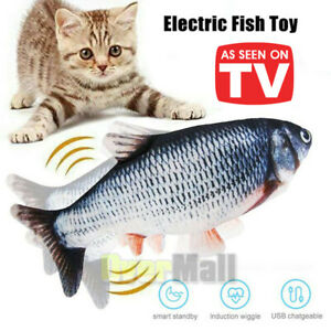 Cat Flipping Flopping Fish Cat Toy Motion Activated Motorized Recharge Cat Toy