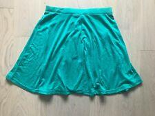 BNWT Cute Golddigga Size 12 M Green Stretch Thin Casual Smart Short Mini Skirt