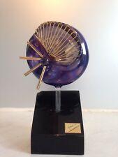 Verre soufflé Murano ajouré en soleil sur socle/1970/Blowing Glass Murano 70'S
