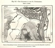 The Quarries of the St Pietersberg. Maastricht. Netherlands. Sketch map 1885