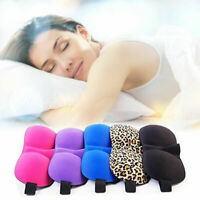 Pro Soft Padded Sleep Mask 3D Sponge Eye Cover Travel Blindfold aid F7S1
