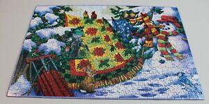 Winter Companions Jigsaw 500 Piece Puzzle Sunsout Nancy Wernersbach 13x19 Used