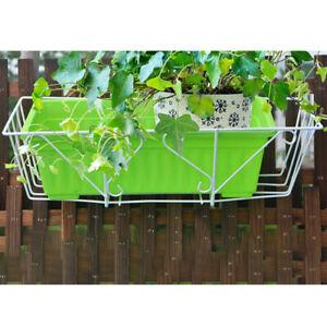 Plant Stand Flower Pot Hooks Holder Wrought Iron Pendant Frame Garden DecorY^BI