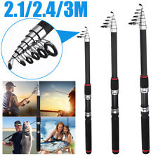 Professional Carbon Fiber Durable Telescope Fishing Rod Sea Hard Pole Spinning