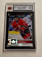 2017-18 UD EXCLUSIVES #100/100 RARE SIDNEY CROSBY TEAM CANADA KSA 8.5 READ INFO