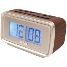NEW Jensen Jcr-232 Am/fm Dual Alarm Clock With Digital Retro Flip Display