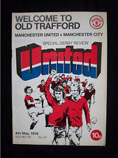 Orig.PRG   England 1.Division  1975/76  MANCHESTER UNITED FC - MANCHESTER CITY !