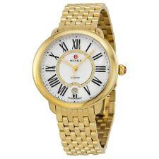 New Michele Serein 16 Diamond Ladies Gold Tone Steel Watch MWW21B000017