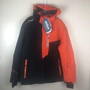 NWT Phibee Kids Outdoor Skiwear Jacket Waterproof Insulated Pockets Orange XXL
