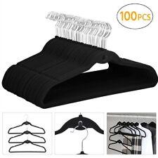 AmazonBasics Velvet Suit Hangers - Black (100 Pack)